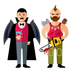 Halloween characters Cartoon vector