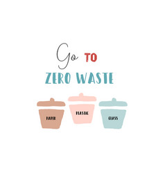 hand drawn doodle elements zero waste lifestyle vector image