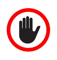 Hand making a stop signal symbol vector