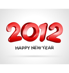 happy new year 2012 3d message background vector image