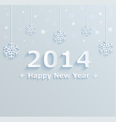 happy new year 2014 festive background vector image
