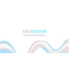 header website abstract wave design vector image