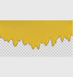 honey splash dripping sweet drops vector image