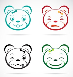 image an bear face vector image