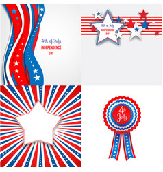 Independence day set vector