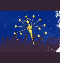 Indiana state flag with audience vector