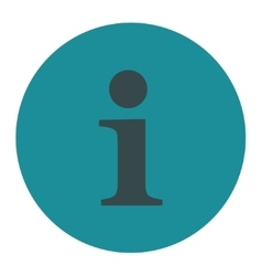 Info flat soft blue colors round button vector