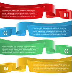 infographic ribbon banners different color vector image