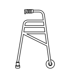 Isolated crutch for disabled people design vector image