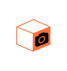 isometric camera icon vector image