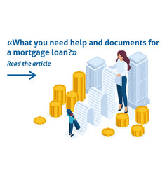 isometric registration mortgage loan vector image