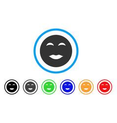 Lady pleasure smiley icon vector
