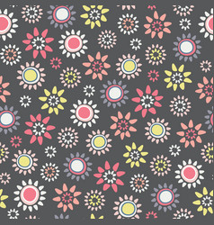 large ditsy floral seamless repeat pattern vector image
