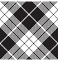 Macleod tartan plaid diagonal seamless pattern vector