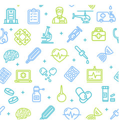 medicine symbols and signs pattern background on a vector image