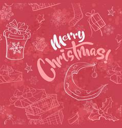 merry christmas seamless vector image