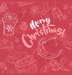 merry christmas seamless with vector image