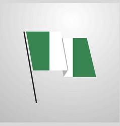 nigeria waving flag design background vector image
