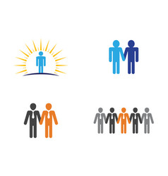 people icon work group vector image