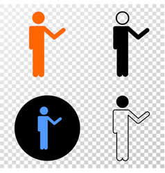 person show eps icon with contour version vector image