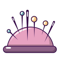 Pincushion icon cartoon style vector