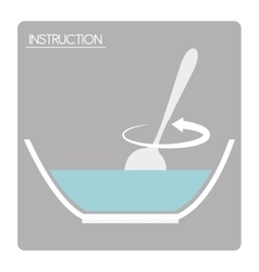 Preparation instructions icon vector