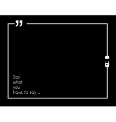 Quotation Mark Frame with Flat style and space for vector