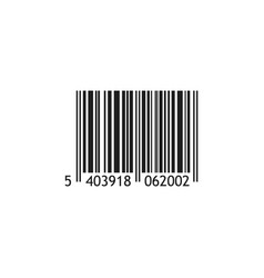 Realistic barcode isolated on white background vector