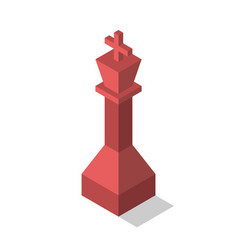 red isometric king isolated vector image