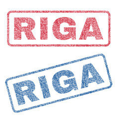 Riga textile stamps vector