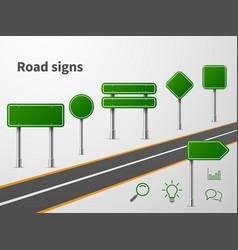 road sings banner traffic street route blank vector image
