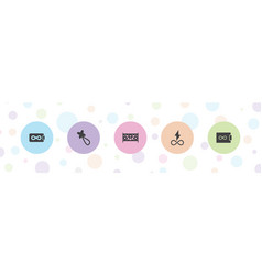 Seamless icons vector