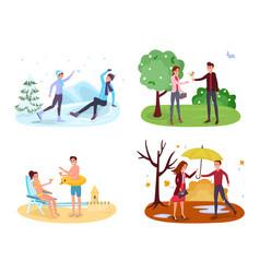 Seasonal outdoor activities vector