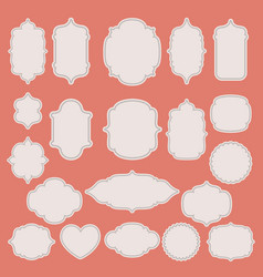 set of vintage paper labels vector image