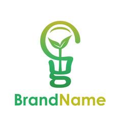smart eco bulb creative logo concept vector image