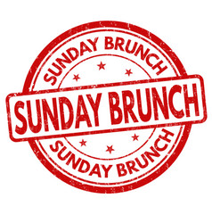 sunday brunch grunge rubber stamp vector image