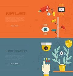Surveillance Graphic Elements vector image