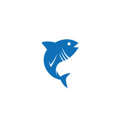 tona blue fish symbol design vector image