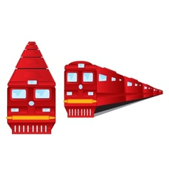Two trains vector image