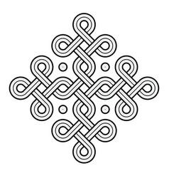 viking decorative knot - ring cross vector image