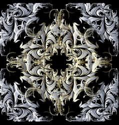 vintage baroque damask seamless pattern floral vector image