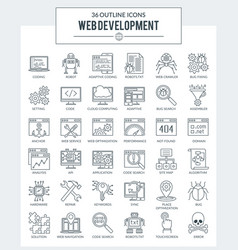 Web development and programming icons vector