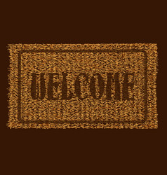 Welcome coconut doormat vector