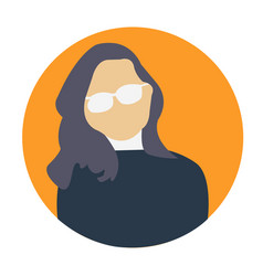 woman avatar professional icon woman vector image