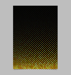 Yellow abstract circle pattern brochure vector