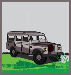land rover vector image vector image