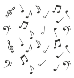 notes music sheet pattern icon vector image