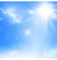 Sky and sun vector