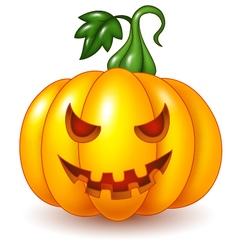 Cartoon Halloween pumpkin isolated vector image vector image