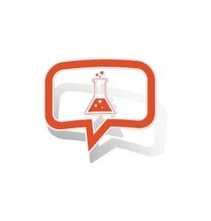 Chemistry message sticker orange vector